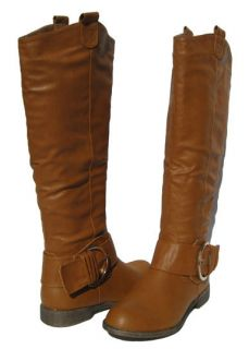 New Womens Riding Boots Cognac Shoes Winter Snow Fur Lined Ladies