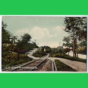 PRR Pennsylvania Railroad South Clearfield PA Postcard