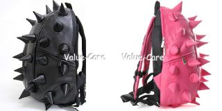 Spike Punk School Backpack Man Women Kid Spiky College Tablet Bag Pink