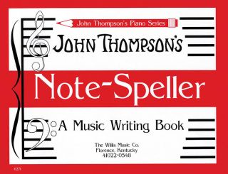 Note Speller Piano Music Writing John Thompson Book New