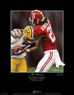 Alabama Football 2011 BCS National Championship Dre Kirkpatrick Print