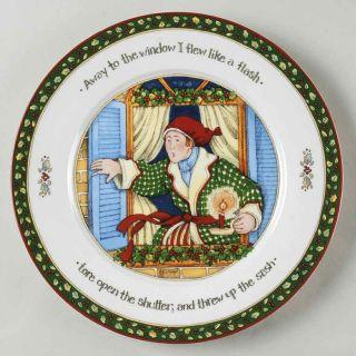 Portmeirion Christmas Story Window Man Dinner Plate