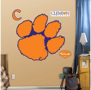 New NCAA Clemson Tigers Large Wall Accent Orange Paw Print Logo Decor