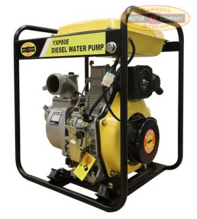 New 3 Industrial Commercial Diesel Water Pump Electric Recoil Start