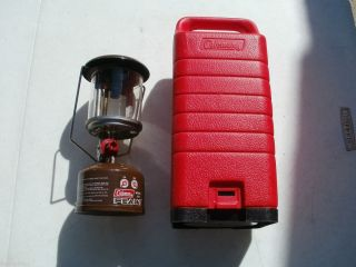 Coleman PEAK 1 Model 222 Lantern with Red Case.