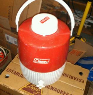 Vintage Coleman Snow Lite Water Jug Cooler Red 2 Gallon