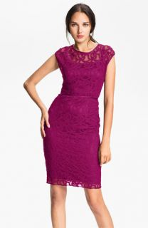 Adrianna Papell Lace & Mesh Sheath Dress