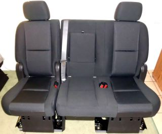 Second Row Black Cloth Seats OEM Chevrolet Suburban Yukon Denali 2nd