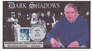JVC Cachets Remembering Jonathan Frid Barnabas Collins Dark Shadows