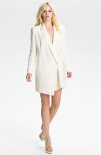 Haute Hippie One Button Silk Blazer Dress
