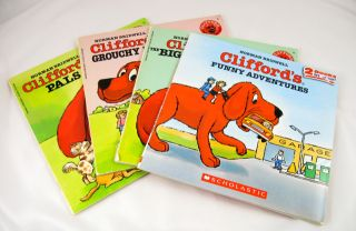 Lot of 4 Clifford The Big Red Dog Books Norman Bridwell