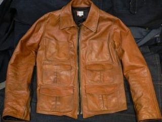 VTG 70s SCORCHED UP LEATHER MOTORCYCLE BIKER JACKET XXL COLIN FARRELL