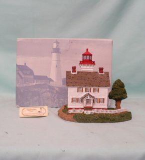 Lights YAQUINA BAY OREGON LIGHTHOUSE Ocean Collectible w BOX COA TAG