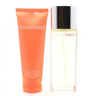 Clinique Happy Womens Fragrance Perfume Spray 1 7 oz Body Cream 2 5