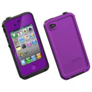 Purple Waterproof Shockproof PC Case Life Dirt Proof Cover for iPhone