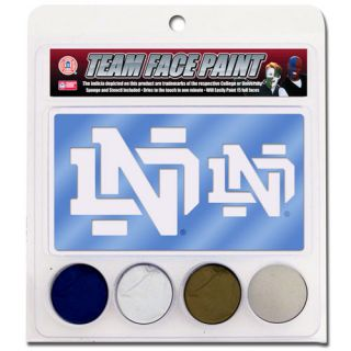 Notre Dame Fighting Irish Face Paint with Stencils