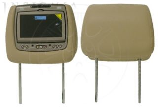 Dual Headrest DVD Player for 2008 2012 Buick Enclave Tan Cloth