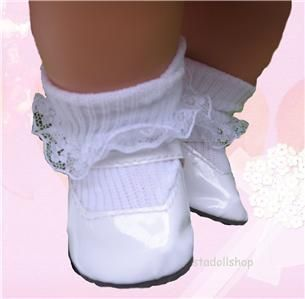 Doll Clothes White Shoe Fit American Girl Bitty Baby MJ