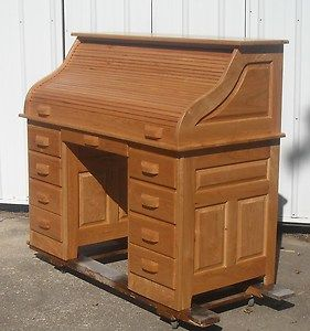 new roll top desk cherry lumber laptop computer rolltop amish style