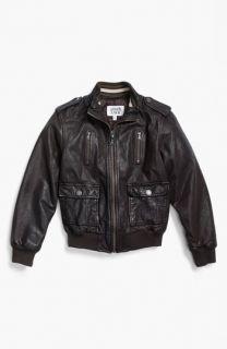 Armani Junior Leather Jacket (Big Boys)