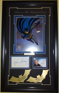 Animated Series signed sericel autograph Kevin Conroy Bruce Timm JSA