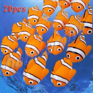20 x Cute Baby Bath Toys Rubber Race Clown Fish New