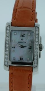 concord sportiva new mother of pearl diamond watch
