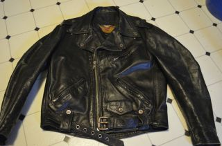 DISTRESSED HEAVY HARLEY DAVIDSON MOTORCYCLE REAL LEGEND BIKER JACKET