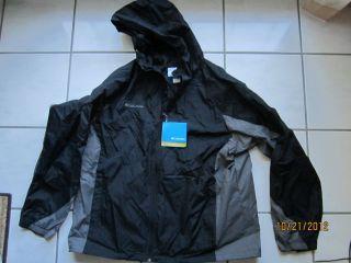 Columbia Bridge Falls Man Black Hooded Jacket New $75