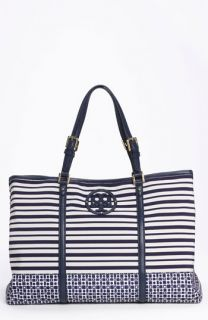Tory Burch Stacked Logo Print Tote