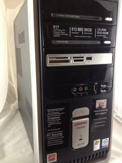 Compaq Presario SR1722X Desktop Computer hard drive not included
