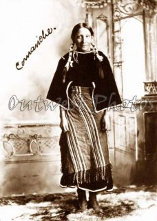 1890s COMANCHE Native American Indian Woman Photo