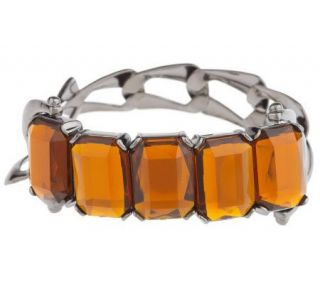 LOGO by Lori Goldstein Faceted Stone Stretch Bracelet   J149810
