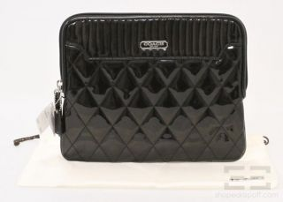 Coach Black Poppy Quilted iPad Kindle Universal Sleeve Case New