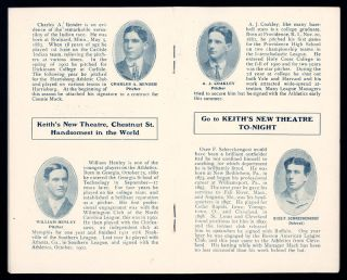 1903 Philadelphia Athletics Yearbook Very Scarce Strong Condition