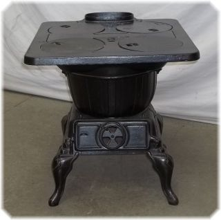 Rare vintage warm morning stove coal wood heater model 414 a good