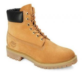 Timberland Mens Waterproof Tan Nubuck LeatherPremium Boot —
