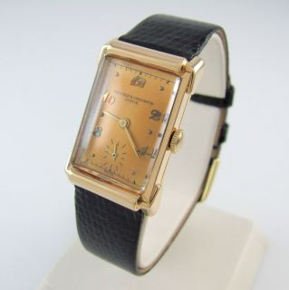 Vacheron Constantine 14k Gold Mens Watch 17 Jewels Swiss 435 3c │RS