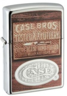 Case Sons Zippo Windproof Lighter w Case Brothers Design 50160
