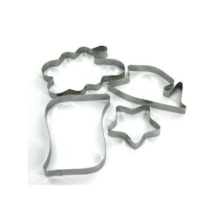 Wholesale Case Lot 96 Graduation Theme Cookie Cutters 4 PC Pkgs