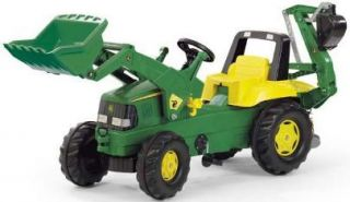 Rolly John Deere Ride on Pedal Tractor Loader Digger