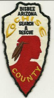 Very Old Cochise County Bisbee Arizona Search & Rescue AZ MINT