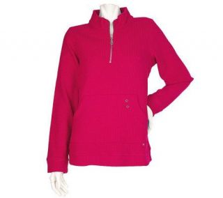 Sport Savvy Micro Fleece Half Zip Pullover with Kangaroo Pocket