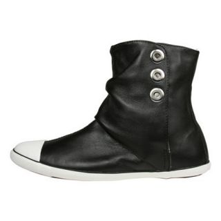 Converse All Star Womens Light Ankle Mid Black Leather