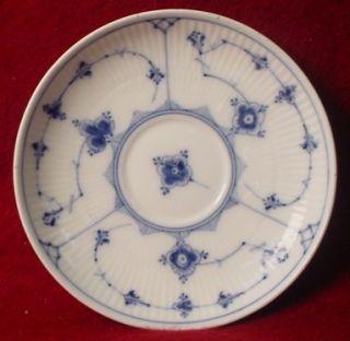 Royal Copenhagen China Blue Fluted Plain Cup Saucer 79