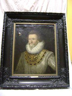 Painting by Alonzo Sanchez Coello Royal Portrait Coat Arms