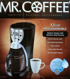 12 Cup Programmable Coffee Maker w Built in Water Filter