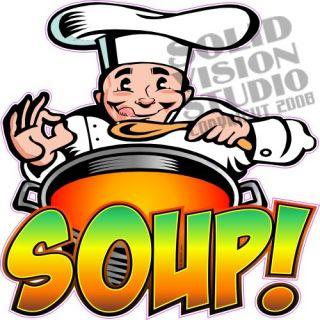 14 Soup Concession Trailer Restaurantr Food Sign Decal