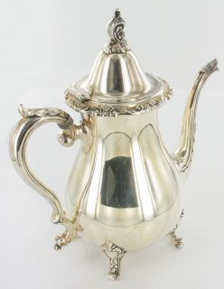 antique vintage wallace la reine silver plate tea coffee set