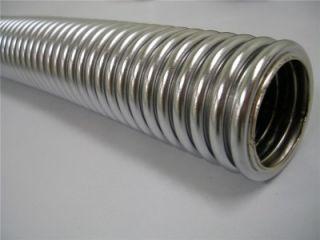 Complete 48 Flexible Chrome Stainless Radiator Hose Kit Hot Rod